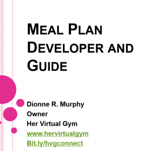 Meal Plan Developer and Guide